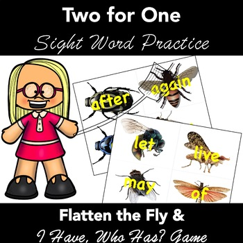 Sight Words: 1st Grade. 2 COMPLETE ACTIVITIES. REAL FLY Images