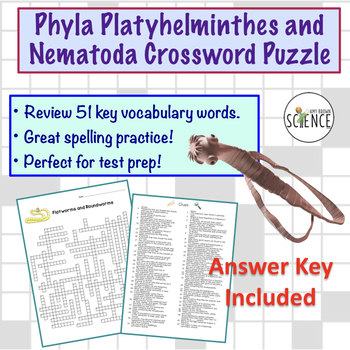 Flatworm and Roundworm (Platyhelminthes and Nematoda) Crossword Puzzle