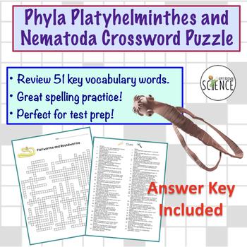 Flatworm and Roundworm (Platyhelminthes and Nematoda) Crossword Puzzle