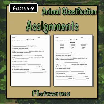 Flatworms Teacher Notes & Assignment