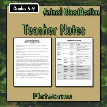 Flatworms Teacher Notes & Assignment