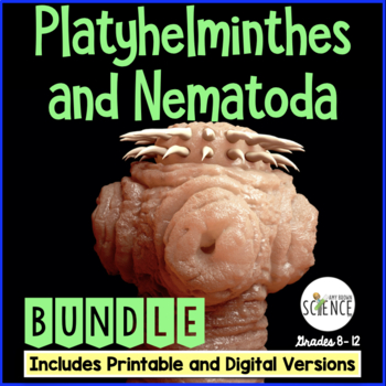 Flatworms and Roundworms Bundle