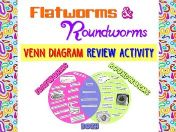 Venn diagram teaching resources teachers pay teachers flatworms and roundworms venn diagram review activity for zoology or biology ccuart Images