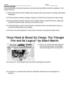 Flesh & Blood So Cheap & Triangle Factory Fire Comprehensive Study Guide