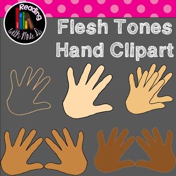 Flesh Tones Hand Clipart