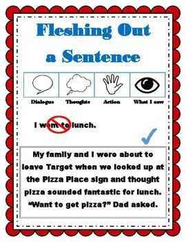 Fleshing Out a Sentence