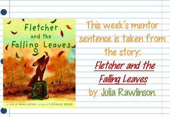 Fletcher and the Falling Leaves II Interactive Mentor Sentence PowerPoint