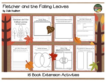 Fletcher and the Falling Leaves Rawlinson 16 Extension Activities NO PREP