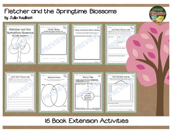 Fletcher and the Springtime Blossoms Rawlinson 16 Extension Activities NO PREP