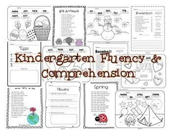 Fleuncy & Comprehension Reading Intervention Bundle for Grades K-2