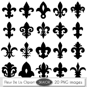 photo regarding Fleur De Lis Printable named Fleur De Lis Clipart Heraldic Electronic Sbooking Printable Silhouette