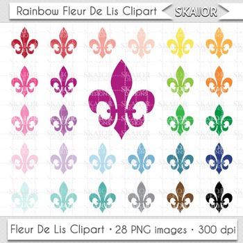 Fleur De Lis Clipart Rainbow Fleur Clip Art Heraldic Clipa
