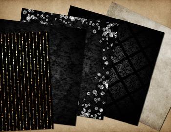 Fleur de Lis Jewels and Gems Digital scrapbook kit clipart backgrounds