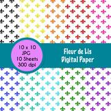 Fleur de Lis Themed Digital Paper - FREE!