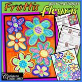 Arts plastiques: Fleurs de frottis, printemps, fête des mères, en français