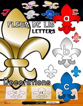 Fleur-de-lis Classroom Letter Decorations