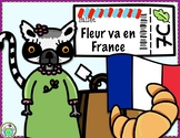 Fleur va en France Culture Theme Pack in FRENCH for Children