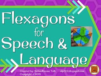 Flexagons for Speech and Language {craftivity}