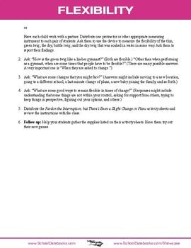 Flexibility Character Lesson Plan