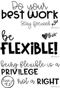 Flexible or Alternative Seating Classroom Rules