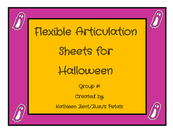 Flexible Articulation Sheets for Halloween set 1