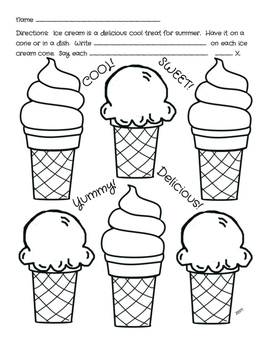 Flexible Articulation Sheets for Summer: Ice Cream Treats