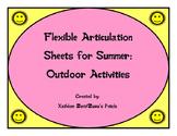 Flexible Articulation Sheets for Summer: Outdoor Activities