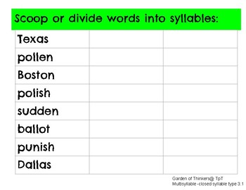 Flexible Division Of Multisyllable Words