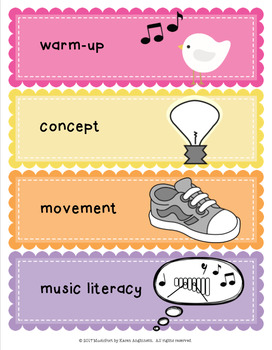 Flexible General Music Lesson Picture Schedule