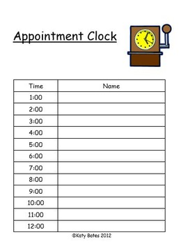 Flexible Grouping Appointment Partners templates for Classroom Management