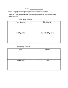 Flexible Grouping Template