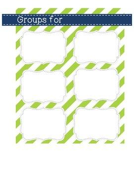Flexible Groups Planning Mat