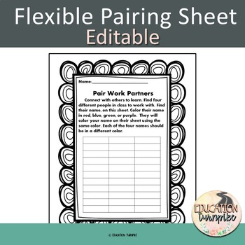 Flexible Pairing Sheet-Editable