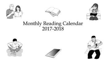Flexible Reading Log and 2017-2018 Reading Calendar Bundle