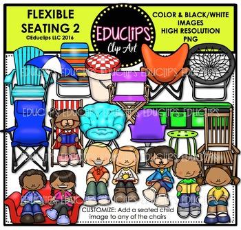 Flexible Seating 2 Clip Art Bundle {Educlips Clipart}