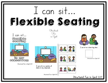 Flexible Seating Adapted Book for Preschool, Pre-K and Special Needs