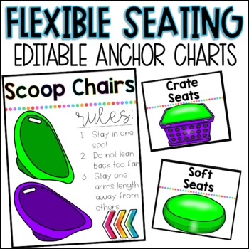 Flexible Seating Anchor Charts *Editable*