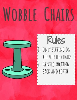 Flexible Seating Anchor Charts- Water Color Version