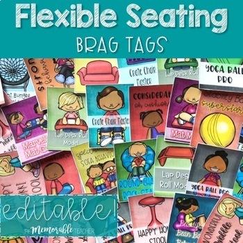 Flexible Seating Brag Tags EDITABLE!