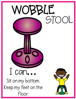 Flexible Seating Bundle, Posters and Choice Cards (editable)