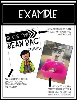 Flexible Seating Signs/Cards