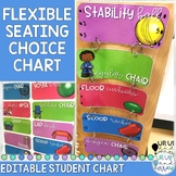 EDITABLE Flexible Seating Choice Chart