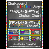 Flexible Seating Chart (Chalkboard and Rainbow Stripe)