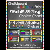 Flexible Seating Chart (Chalkboard and Rainbow Stripe Theme)