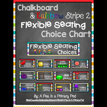 Flexible Seating Chart (Chalkboard and Rainbow Stripe 2)