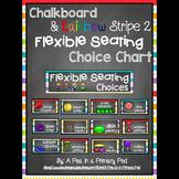 Flexible Seating Chart (Chalkboard and Rainbow Stripe 2 Theme)