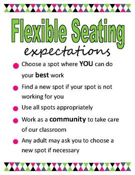 Flexible Seating Chart (EDITABLE)