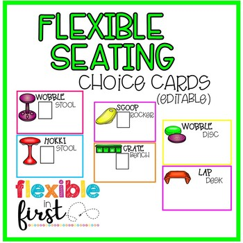 Flexible Seating Choice Cards (editable)