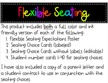 Flexible Seating Essentials