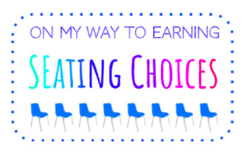 Flexible Seating Choice Punch Cards